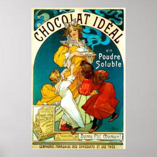 Alfons Mucha Chocolat Idéal Mother Children Food Poster