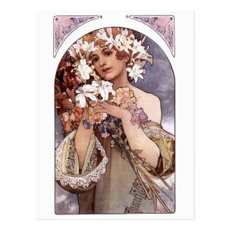 Alfons Mucha: Flower Postcard