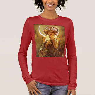 Alfons Mucha: Luna Long Sleeve T-Shirt