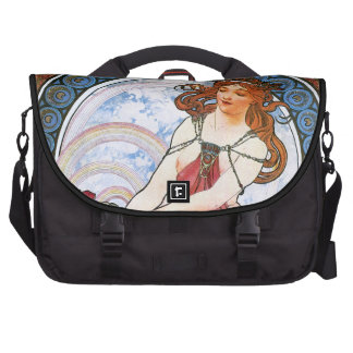 Alfons Mucha: Muse of Painting Bags For Laptop