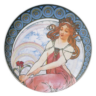 Alfons Mucha: Muse of Painting Plate