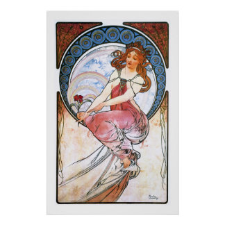 Alfons Mucha: Muse of Painting Poster