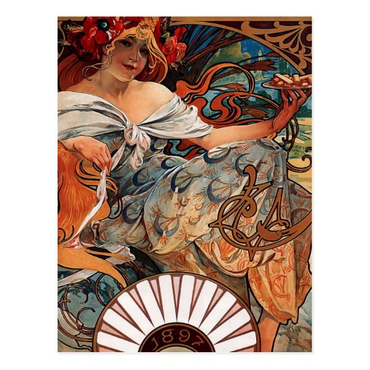 Alfons Mucha Postcard