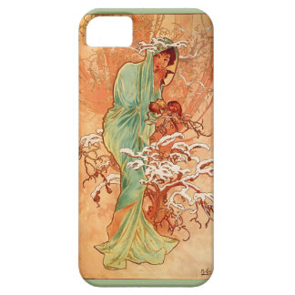 Alfons Mucha WInter Art iPhone 5 Case