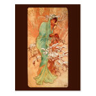 Alfons Mucha Winter Postcard