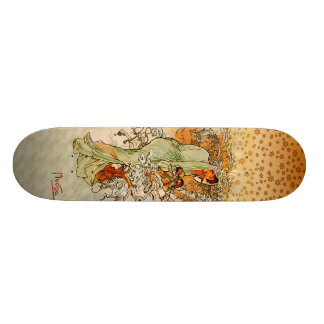 Alfons Mucha Winter Skateboard