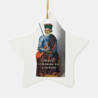 Alfons X Ceramic Ornament