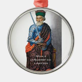 Alfons X Metal Ornament