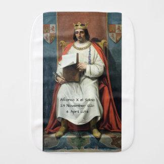 Alfonso x el Sabio Burp Cloth