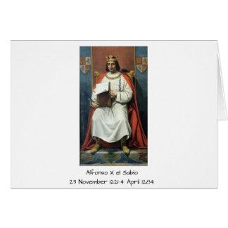 Alfonso x el Sabio Card