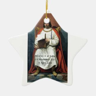 Alfonso x el Sabio Ceramic Ornament