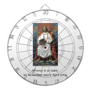 Alfonso x el Sabio Dartboard