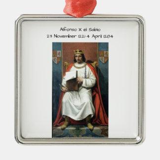 Alfonso x el Sabio Metal Ornament