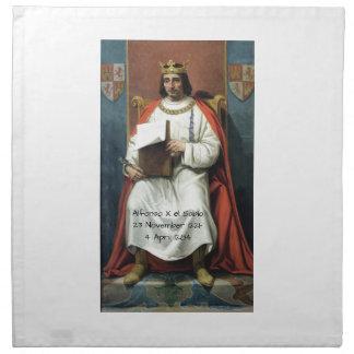 Alfonso x el Sabio Napkin
