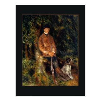 Alfred Berard and his Dog by Renoir Postcard