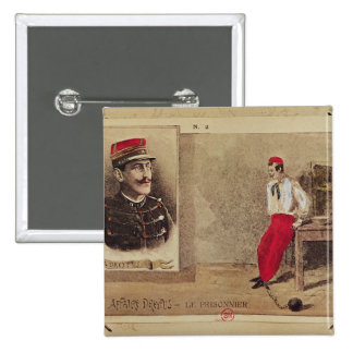 Alfred Dreyfus  as a prisoner, 1894-1906 2 Inch Square Button