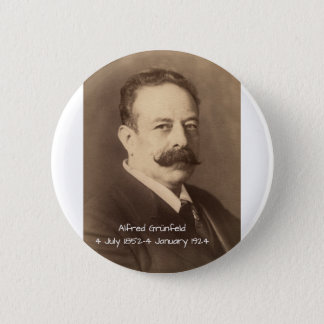 Alfred Grunfeld 2 Inch Round Button