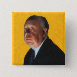 Alfred Hitchcock 2 Inch Square Button
