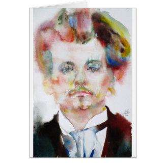 alfred jarry - watercolor portrait.1 card