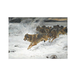 Alfred Kowalski Pack of Wolves Canvas Print