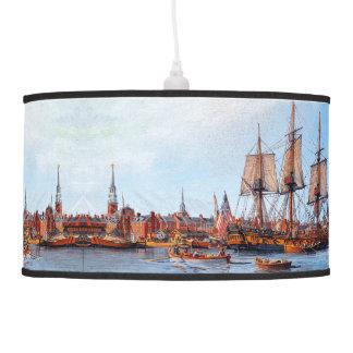Alfred Navy Frigate Ship Boston Harbor Lamp