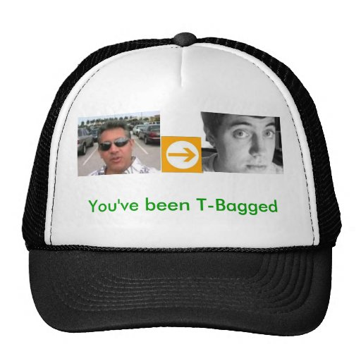 alfred, right arrow, david, You've been T-Bagged Mesh Hat