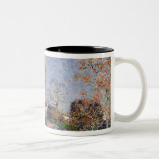 Alfred Sisley | A Corner of the Woods at Sablons Two-Tone Coffee Mug