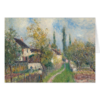 Alfred Sisley - A Path at Les Sablons Card