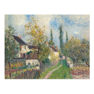 Alfred Sisley - A Path at Les Sablons Postcard