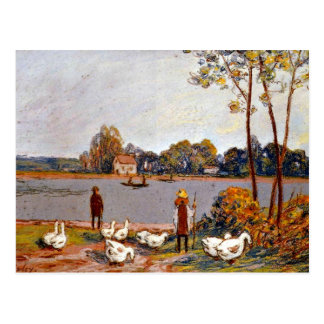Alfred Sisley art: By The River Loing Postcard