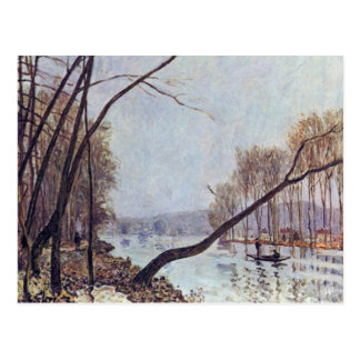 Alfred Sisley - Bank in the autumn postcard