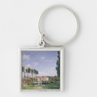 Alfred Sisley | Banks of the Loing at Moret Silver-Colored Square Keychain