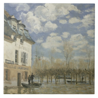 Alfred Sisley - Boat in the Flood at Port Marly Ceramic Tiles