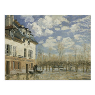 Alfred Sisley - Boat in the Flood at Port Marly Postcard