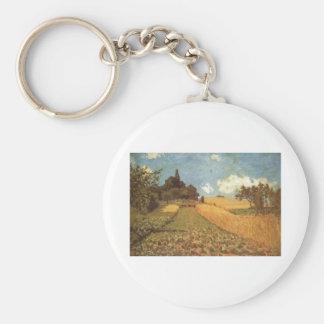 Alfred Sisley Kornfeld 1873 - Cornfield Oil Basic Round Button Keychain