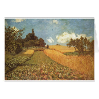 Alfred Sisley Kornfeld 1873 - Cornfield Oil Greeting Card
