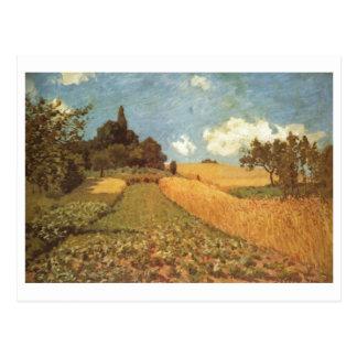 Alfred Sisley Kornfeld 1873 - Cornfield Oil Postcard