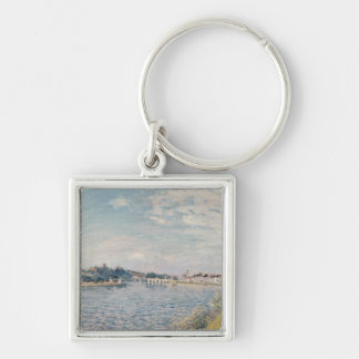 Alfred Sisley | Landscape Silver-Colored Square Keychain