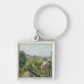Alfred Sisley | Louveciennes, The Heights at Marly Silver-Colored Square Keychain