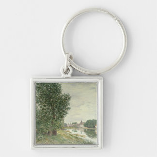 Alfred Sisley | Moret-sur-Loing Silver-Colored Square Keychain