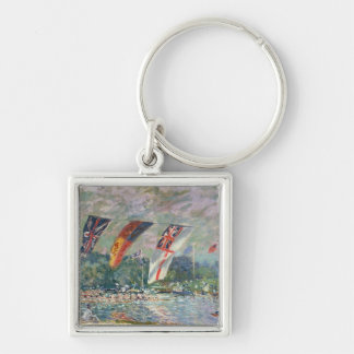 Alfred Sisley | Regatta at Molesey Silver-Colored Square Keychain