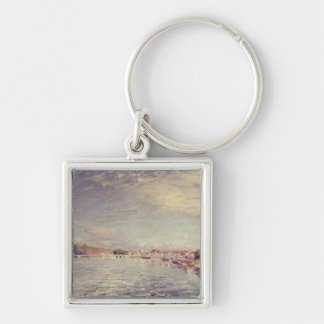 Alfred Sisley | Saint-Mammes Silver-Colored Square Keychain