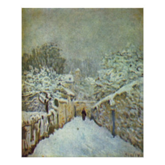 Alfred Sisley - Schnee in Louveciennes 1874 Oil Poster