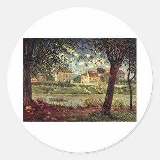 Alfred Sisley - Seine bei Saint-Mammès 1884 Sticker