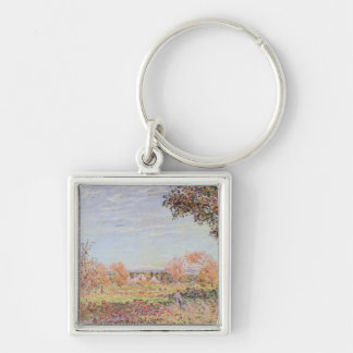Alfred Sisley | September Morning Silver-Colored Square Keychain