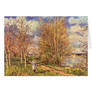 Alfred Sisley Small Meadows in Spring Card