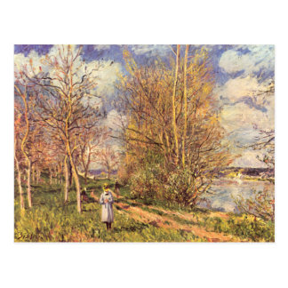 Alfred Sisley - Small Meadows in Spring postcard
