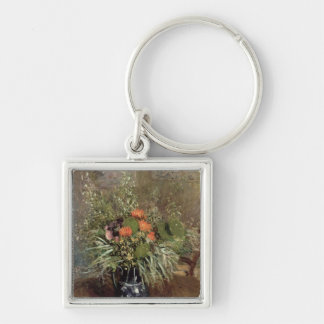 Alfred Sisley | Still Life of Wild Flowers Silver-Colored Square Keychain