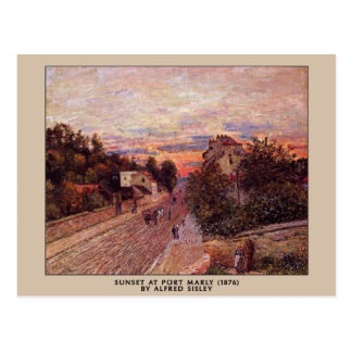 Alfred Sisley - Sunset at Port Marly postcard