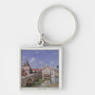 Alfred Sisley | The Bridge at Moret Silver-Colored Square Keychain